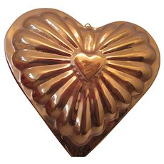 Vintage Copper Heart Mold for Wall Plaque