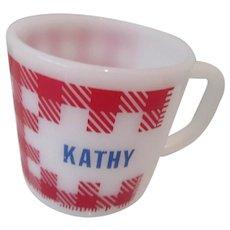 "Westfield ""Kathy"" Plaid Kitchen Mug"