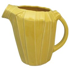 McCoy Water Pitcher Yellow c1938 Superior Condition