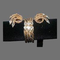 Substantial Hattie Carnegie Bracelet/Earrings