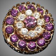 CORO Amethyst Colored Brooch
