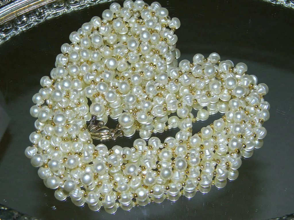 6 Strand Faux Pearl Necklace Blast From The Past Ruby Lane