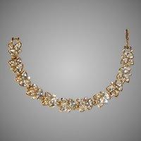 Vintage Swarovski Crystal Bracelet-Signed Twice