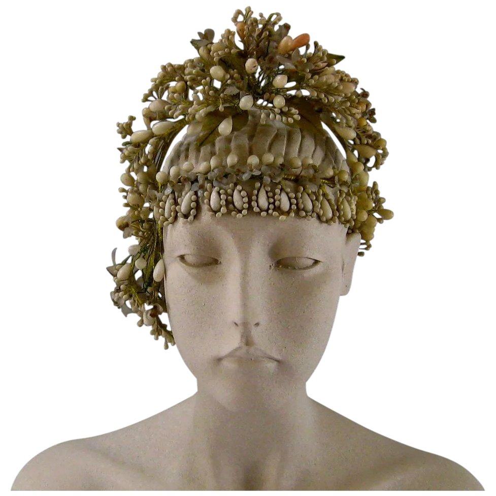 French victorian wax flower bridal crown headpiece c1890 antique click to expand izmirmasajfo