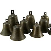 Antique English Bronze Handbells 18th C William Rose Campanology Bell