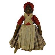 Babyland Rag Bruckner Topsy Turvy Doll c1900 Antique Cloth Face Dolls