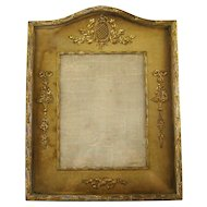 French Empire Style Picture Frame c1900 Huge Antique Ormolu Frame