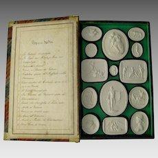 Grand Tour Plaster Intaglios c.1830 Liberotti Impronte Antique Collection Musei II Souvenir Cameo Medallions