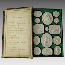 Grand Tour Plaster Intaglios c.1830 Liberotti Impronte Antique Collection Musei II Souvenir Cameo Medallions