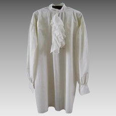 Early Man's Fine Linen Shirt 18th / 19th C Antique Hand Sewn Men's Dress Shirt