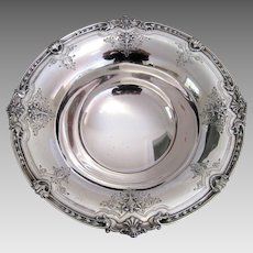 Edwardian Sterling Silver Pedestal Bowl c.1910 Large Antique Basket Flowers Serving