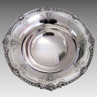 Edwardian Sterling Silver Pedestal Bowl c.1910 Large Antique Basket Flowers Serving