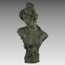 Goldscheider Terracotta Art Nouveau Maiden Bust c.1900