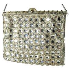Delill Rhinestone Purse Vintage Jeweled Evening Bag