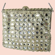 Delill Rhinestone Purse Vintage Jeweled Evening Bag