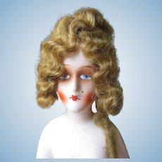 Art Deco Half Doll Vintage Boudoir Composition Siren