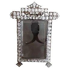 French Paste Picture Frame Vintage Art Deco Jeweled Locket Back