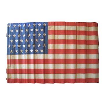"45 Star American Parade Flag 1896-1908 Large Antique Flag 36"" x 56"" Vintage Utah"