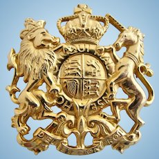 Vintage Accessocraft British Royal Coat of Arms Brooch