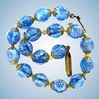 Vintage Millefiore Art Glass Bracelet