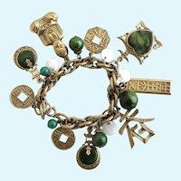 Vintage Signed ART (Arthur Pepper) Asian Charm Bracelet