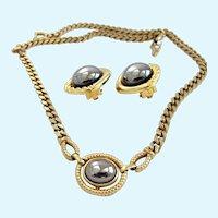 Vintage Louis FERAUD for Avon 1984 Hematite Choker