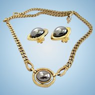 Louis FERAUD for Avon 1984 Hematite Choker