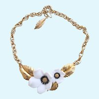 Vintage Louis Feraud for Avon 'Blossoms of Spring' Flower Choker Necklace