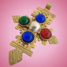 Ben Amun Gold Tone Cross Pendant