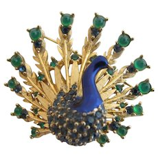 Vintage Boucher Peacock Brooch - Book Piece