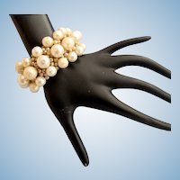 Vintage Faux Pearl Cha Cha Bracelet from Japan
