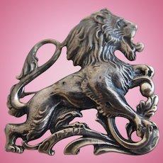 Vintage Cini Sterling Leo Lion Zodiac Brooch