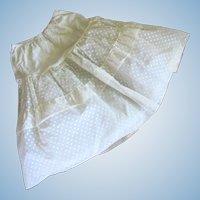 Vintage White Polka Dot Half Crinoline Slip by Nylon Neyret