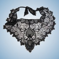 Vintage Sharmark Las Vegas 1993 Black Net and Beaded Shawl Capelet