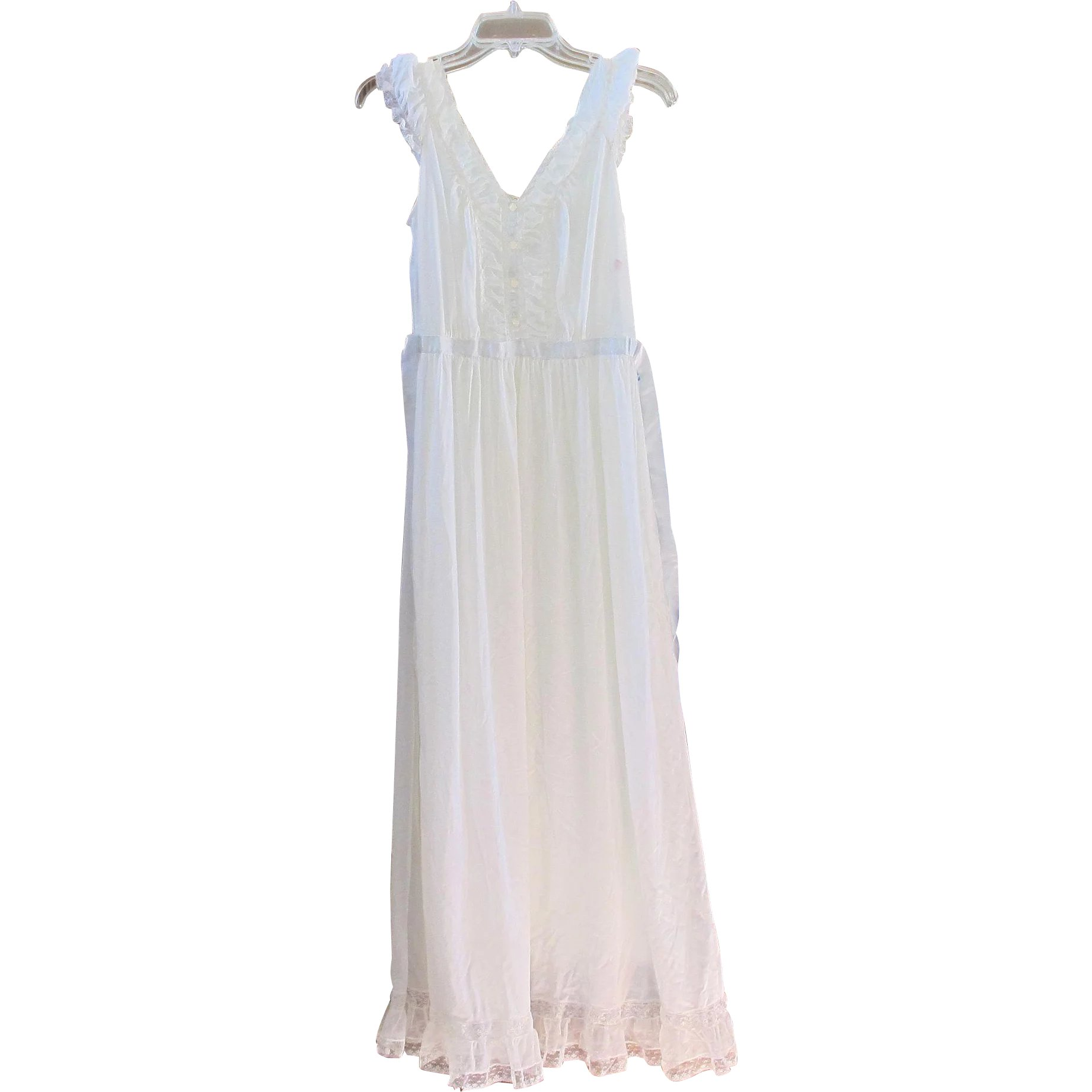 Vintage Luxite By Holeproof White Nightgown : 2Hearts Jewelry ...