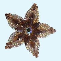 Vintage Rare Delizza & Elster Starfish Brooch
