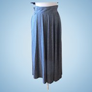 Vintage Christian Dior Separates Swingy Gray Maxi Skirt