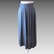 Vintage Christian Dior Separates Swingy Gray Maxi Skirt