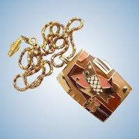 "Vintage Eisenberg ""Artist Series"" Enamel Pendant Necklace"
