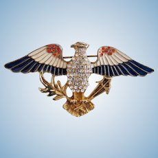Vintage Eisenberg Ice American Eagle Pin