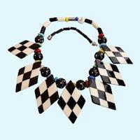 Vintage Ruby Z Racer Theme Ceramic Necklace by Candace Loheed