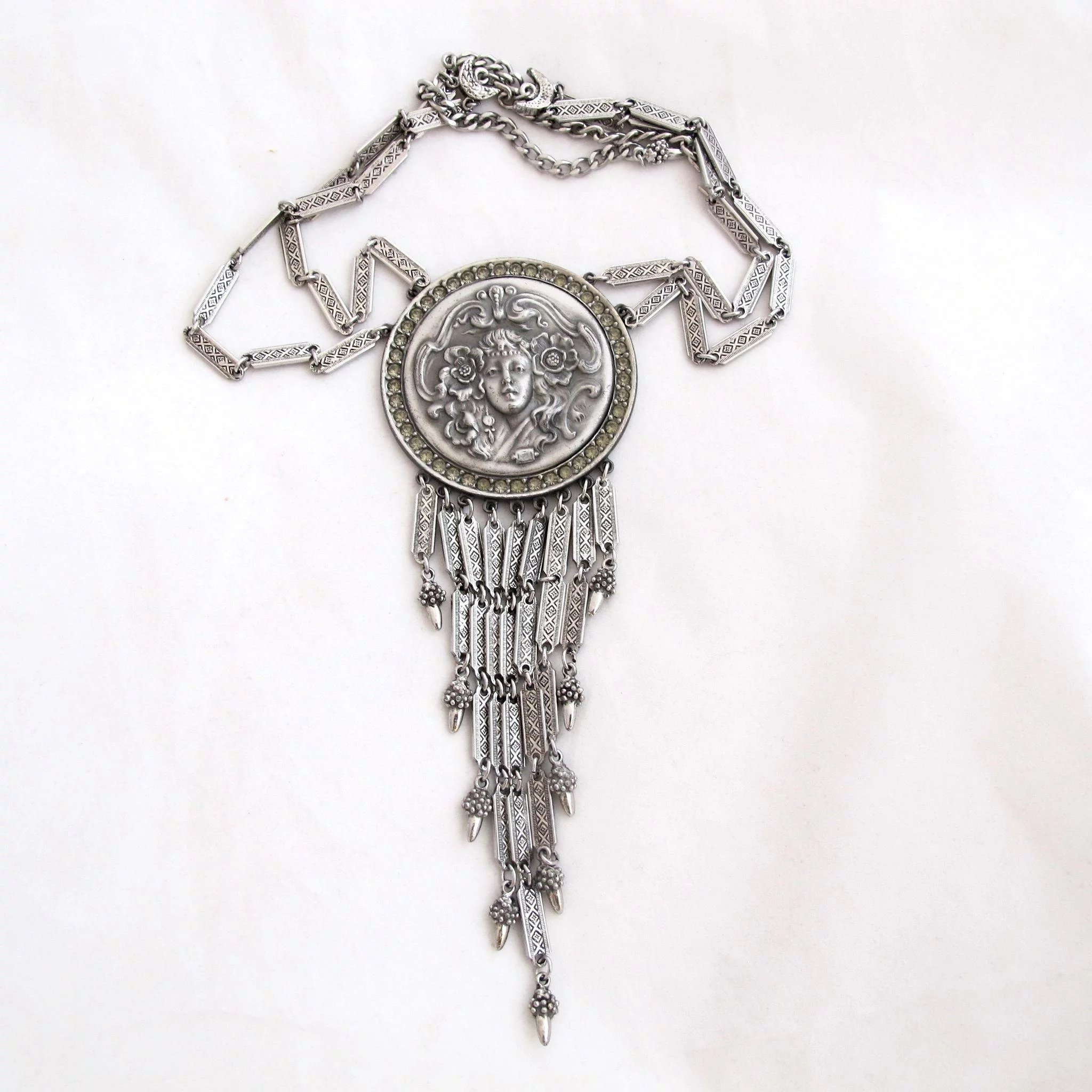 pendant products necklace medallion layered gms silver