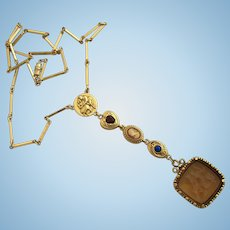 Vintage Goldette Dangle Charm Necklace