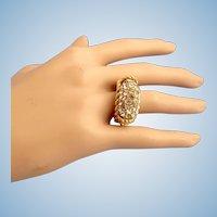 Robert Goossens Rhinestone Ring Size 7