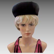 Vintage Henry Pollak / Glenover / Mr. Charles Black Wool Hat
