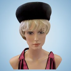 Vintage Henry Pollak Glenover Black Wool Hat