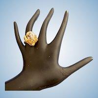 Vintage Hattie Carnegie Shell Ring - Size 6-7 Adjustable