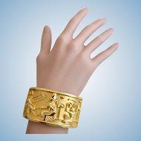 Vintage Elizabeth Taylor for Avon Egyptian Cleopatra Clamper Bracelet