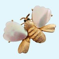 Vintage Mandle Bee Brooch