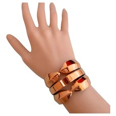 Vintage Renoir Wide Copper Clamper Bracelet